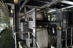 Indoor press manufacturing detail