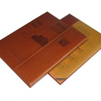 Leather Cover Books Printing With Case Bound