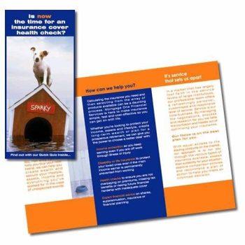 Customized die cut flyer brochure booklet printing