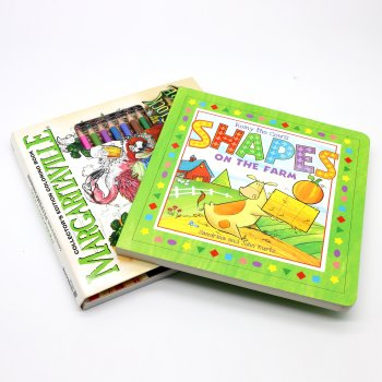 Cheap customized CMYK colorful OEM design English story cardboard comic baby kid book printing