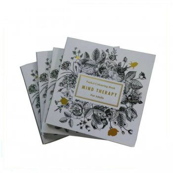 perfect banding softcover coloring book printing colorful flower