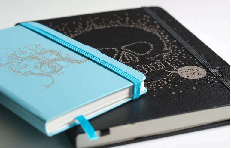 hardcover leather notebook