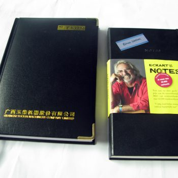 exquisite genuine leather high quality hardocver notebooks printing service