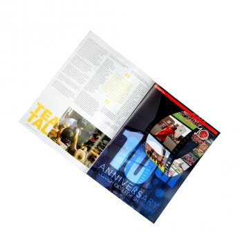 Art paper full color matte lamination a4 magazine printing