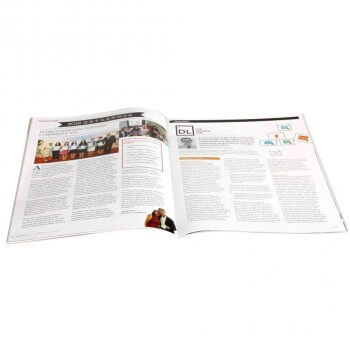 A4 art paper staple cheap magazine printing in Shanghai China