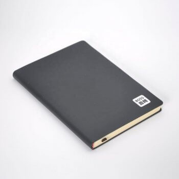 Custom Leather-bound Notebook Thick High-end Cowhide Cover Notebooks Blank/Line Page Diary Notebook printing