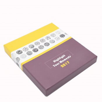 Custom exquisite PVC transparent plastic metal cover shell box packed spiral binding notebook