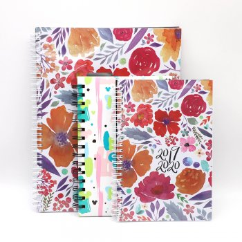 Custom high quality hardcover matt art paper spiral bound CMKY recordable notebook