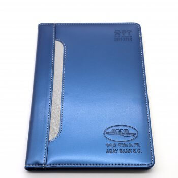 Custom exquisite leather cover 3 edges golden gilt hardcover notebook with string