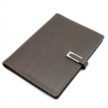 Custom exquisite leather cover perfect binding hardcover notebook with button
